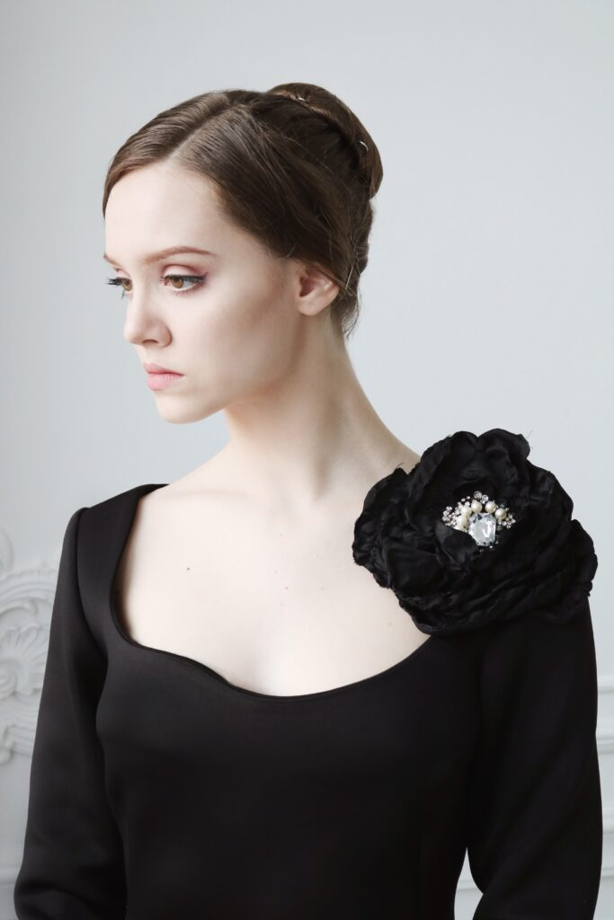 The Black Dress Image by Liliia Beda
